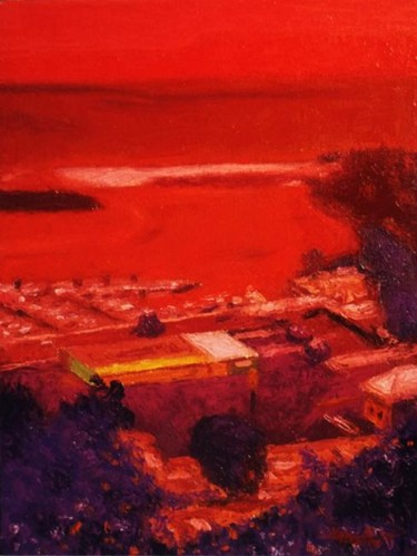 """Painting titled """"""""Yacht Port"""" Guam"""" by Marcial, Original Art,"""