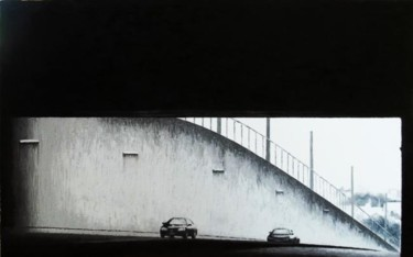 """Painting titled """"""""Route 16 Underpass"""""""" by Marcial, Original Art,"""