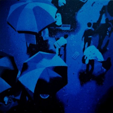 """Painting titled """"""""The Blue Monday"""""""" by Marcial, Original Art,"""