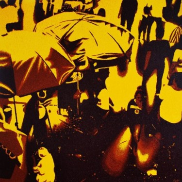 """Painting titled """"""""The Yellow Wednesd…"""" by Marcial, Original Art,"""