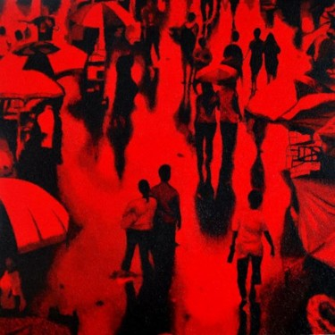 """Painting titled """"""""The Red Sunday"""""""" by Marcial, Original Art,"""