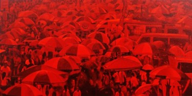 """Painting titled """"""""The Phenomenon"""""""" by Marcial, Original Art,"""
