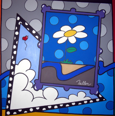 """Painting titled """"Margarida"""" by Tuller, Original Art, Acrylic Mounted on Stretcher frame"""