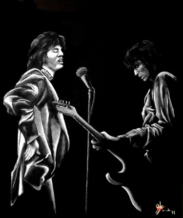 """Painting titled """"Rolling stones"""" by Marc Parmentier, Original Art, Oil"""