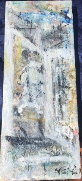 """Painting titled """"The Other Window"""" by Maria Emilov, Original Art, Oil Mounted on Stretcher frame"""