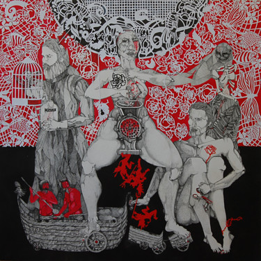 """Drawing titled """"Orthodoxy"""" by Mariana Stefanet, Original Art, Ink"""