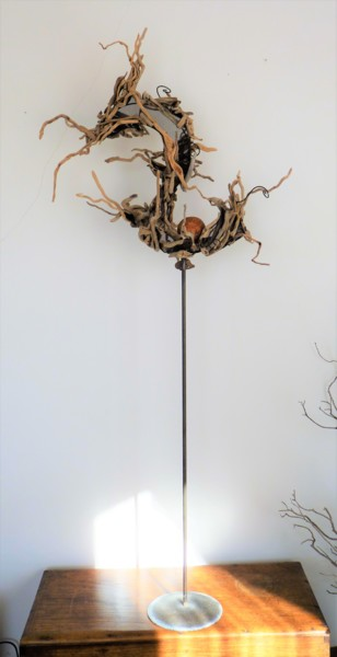 Nature Sculpture, wood, outsider art, artwork by Marie France Vidal