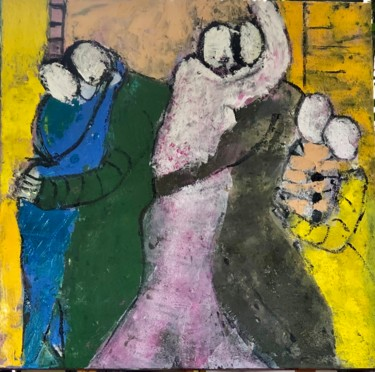 """Painting titled """"Stronger together"""" by Marie Rouach, Original Art, Acrylic"""