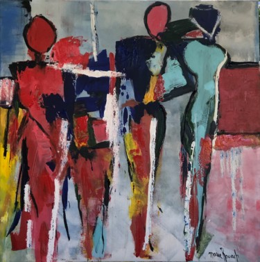 """Painting titled """"Women abstract"""" by Marie Rouach, Original Art, Acrylic"""