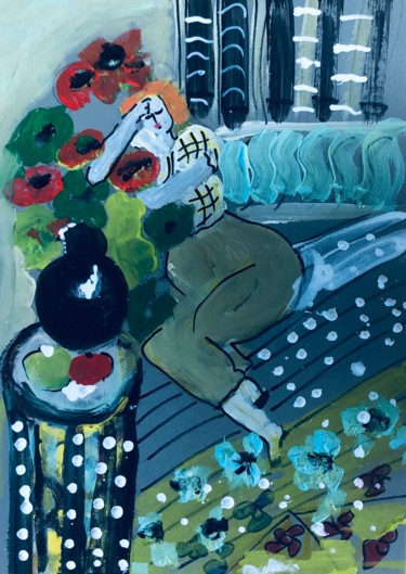 """Painting titled """"Inspiration Matisse…"""" by Marie Rouach, Original Art, Acrylic"""