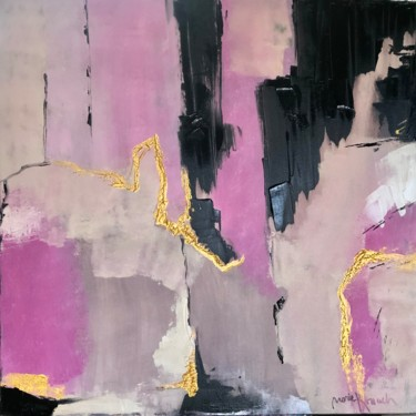"""Painting titled """"Pink abstract 2"""" by Marie, Original Art, Acrylic"""
