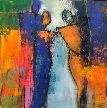 """Painting titled """"Figures abstraites"""" by Marie Rouach, Original Art, Acrylic"""