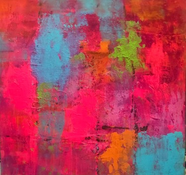 """Painting titled """"Pink"""" by Marie Rouach, Original Art, Acrylic"""