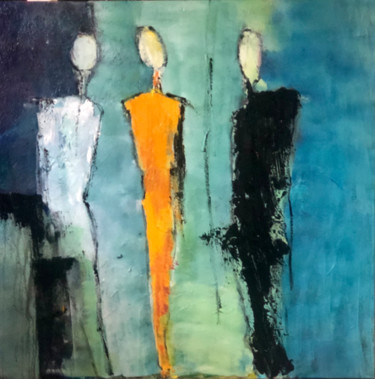 """Painting titled """"Women in 2021"""" by Marie Rouach, Original Art, Acrylic"""