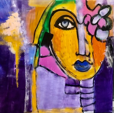 """Painting titled """"Femme 2"""" by Marie Rouach, Original Art, Acrylic"""