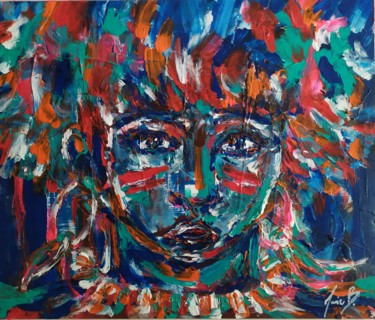 """Painting titled """"Tribe"""" by Marie B., Original Art, Acrylic"""