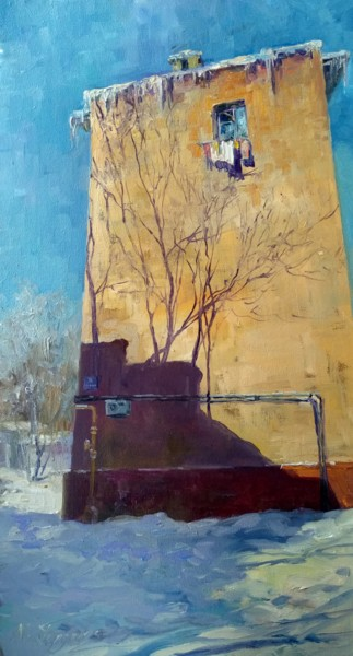 """Painting titled """"Window for March"""" by Maria Gordeeva, Original Art, Oil"""