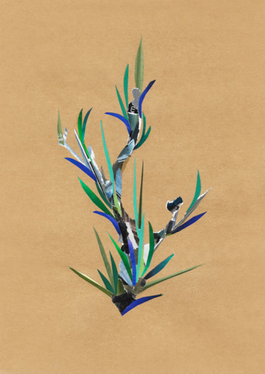 """Collages titled """"Olive branch"""" by Marina Geipel, Original Art, Collages"""