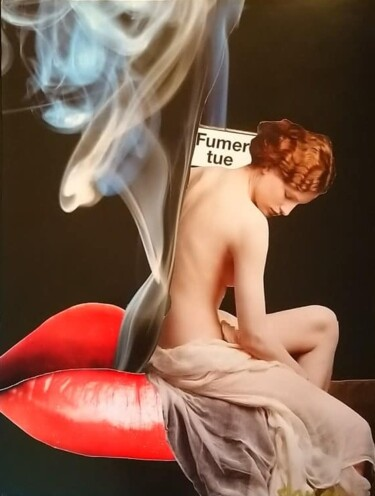 """Collages titled """"Fumer Tue"""" by Marion Revoyre, Original Art, Collages"""