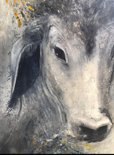 Animal Painting, oil, artwork by Marion Bivort