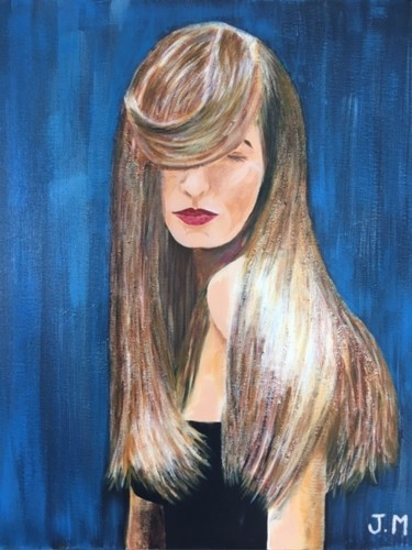 """Painting titled """"Cheveux  blonds"""" by Joëlle Marjollet, Original Art, Acrylic"""