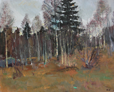 """Painting titled """"Autumn in forest"""" by Mark Kremer, Original Art, Oil"""