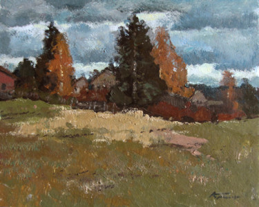 """Painting titled """"Windy day. 1968"""" by Mark Kremer, Original Art, Oil"""