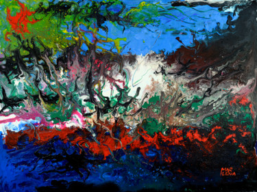Color Painting, acrylic, abstract, artwork by Marlena Lee