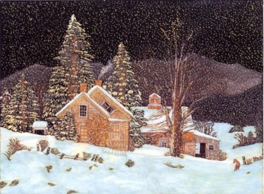 """Painting titled """"Silent Night is a f…"""" by Martin Ashkhatoev, Original Art, Acrylic"""