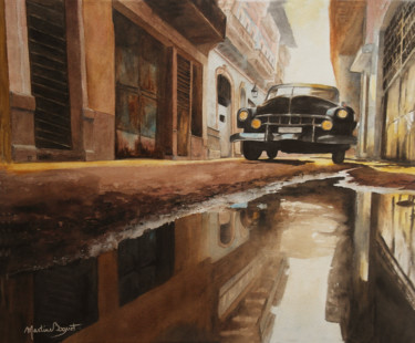 Vehicule Painting, watercolor, figurative, artwork by Martine Boguet
