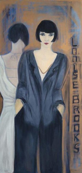 """Painting titled """"Louise Brooks"""" by Martins Marie Pascale, Original Art, Oil"""