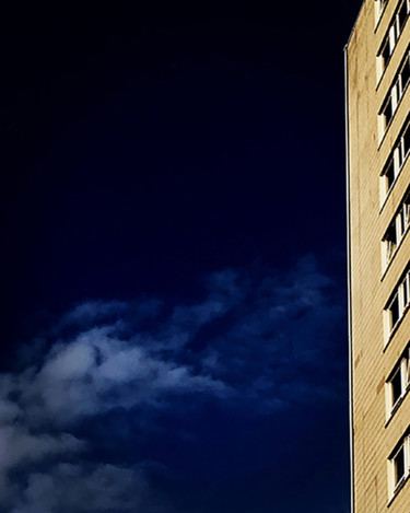 """Photography titled """"Building With Clouds"""" by Martin Vallis, Original Art, Digital Photography"""