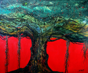 Painting, acrylic, abstract, artwork by B. Maruthi