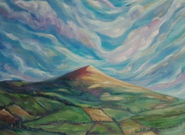 """Painting titled """"Hill"""" by Marvin Jemal, Original Art, Acrylic"""
