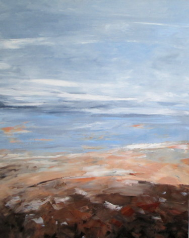 Seascape Painting, oil, abstract, artwork by Mary Papas