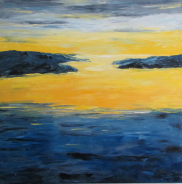 """Painting titled """"A New Dawn"""" by Mary Papas, Original Art, Oil"""
