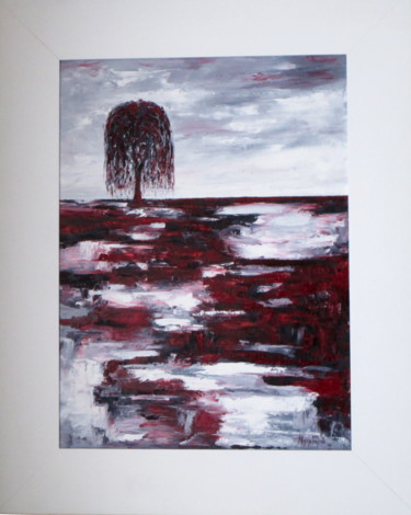 """Painting titled """"Crying Willow 3"""" by Mary Papas, Original Art, Oil Mounted on Other rigid panel"""