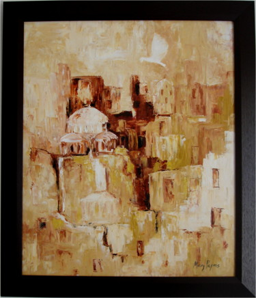 """Painting titled """"Hope & Peace"""" by Mary Papas, Original Art, Oil"""