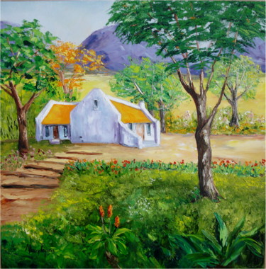 """Painting titled """"Country Tranquil Ho…"""" by Mary Papas, Original Art, Oil"""