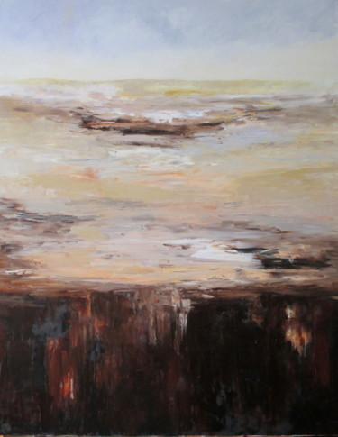 """Painting titled """"Emptiness"""" by Mary Papas, Original Art, Oil"""