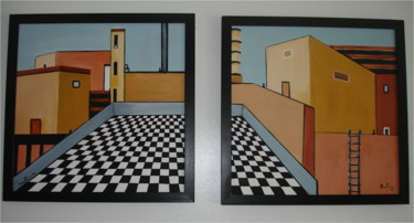 """Painting titled """"Pawns of Industry -…"""" by Mary Papas, Original Art, Oil"""