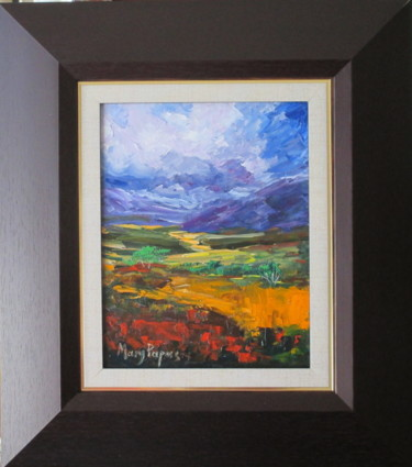"""Painting titled """"Stormy Sky"""" by Mary Papas, Original Art, Oil"""