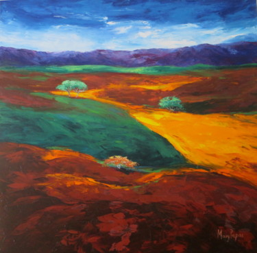 """Painting titled """"Untainted Land"""" by Mary Papas, Original Art, Oil"""