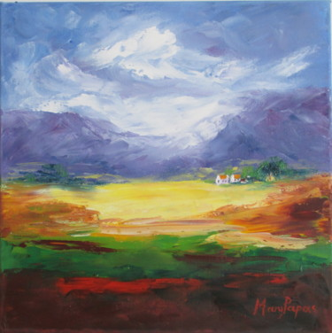 """Painting titled """"A Country Scene 4"""" by Mary Papas, Original Art, Oil"""