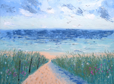 Painting, oil, impressionism, artwork by Mary Stubberfield