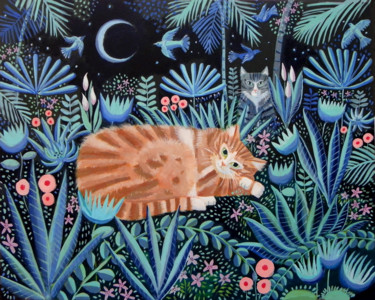 """Painting titled """"Nighttime adventures"""" by Mary Stubberfield, Original Art, Acrylic Mounted on Stretcher frame"""