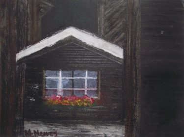 """Painting titled """"The old House"""" by Mary Newey, Original Art, Acrylic"""