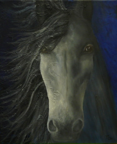 Horse Painting, oil, figurative, artwork by Maryse Chauvin