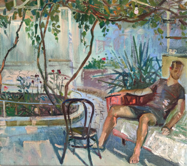 """Painting titled """"Chilling out in the…"""" by Egorova Maria, Original Art, Oil"""