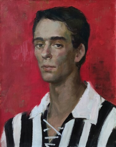 """Painting titled """"Portrait in red"""" by Egorova Maria, Original Art, Oil"""